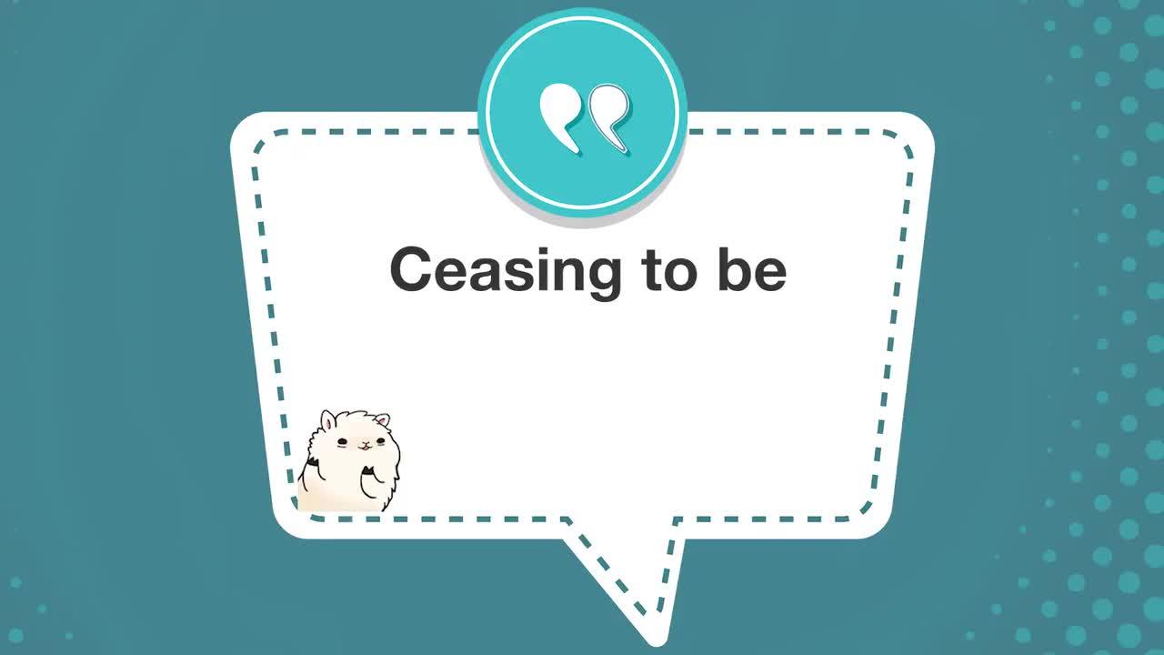 #学个词 - Cease