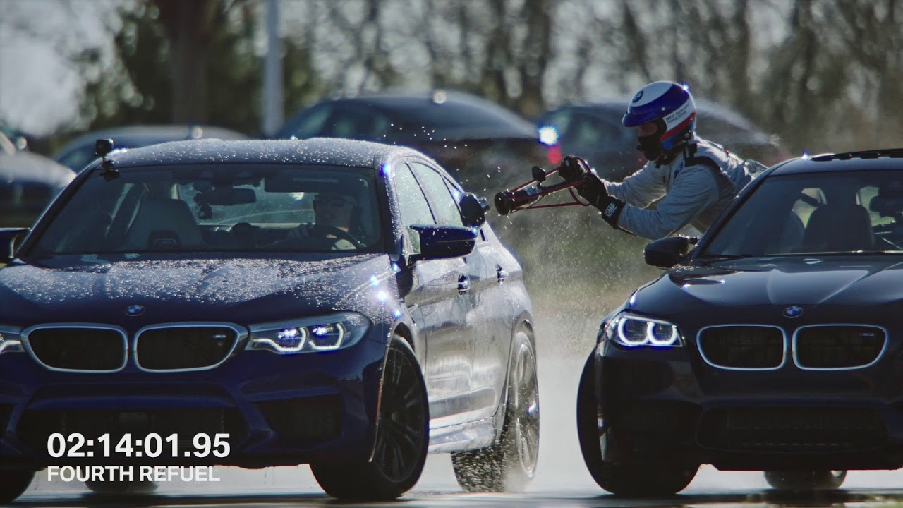 Watch the ALL-NEW BMW M5 refuel mid-drift to take TWO GUINNESS WORLD RECORDS titles